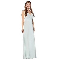 Debut - Pale green build up jersey maxi dress