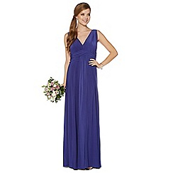 Debut - Royal blue pleated jersey maxi dress