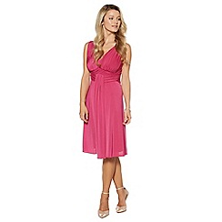 Debut - Bright pink pleated jersey midi dress