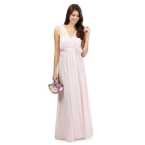 Debut - Pale pink chiffon maxi dress