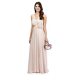 Debut - Pale peach chiffon maxi dress