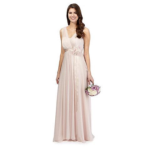 Debut - Pale peach chiffon maxi dress