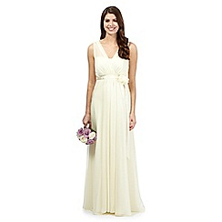 Debut - Pale yellow chiffon maxi dress