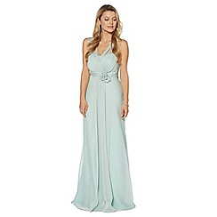 Debut - Light green corsage detail maxi dress