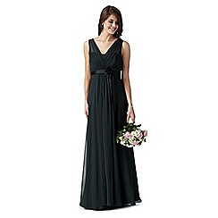 Debut - Fleur Green grecian maxi evening dress