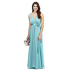 Debut - Aqua chiffon maxi dress