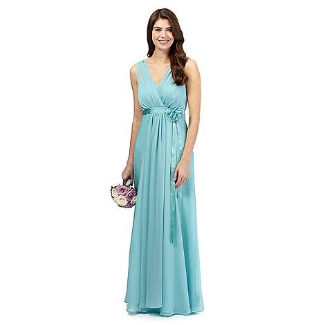 Debut - Aqua chiffon maxi dress