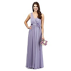 Debut - Lilac chiffon maxi dress