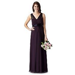 Dark purple grecian maxi dress