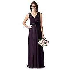 Debut - Fleur Dark purple grecian evening dress