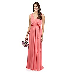 Debut - Bright pink chiffon maxi dress