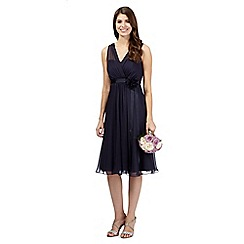Debut - Navy chiffon midi dress
