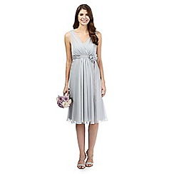 Debut - Grey corsage waist dress