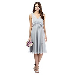 Debut - Pale grey corsage detail midi dress