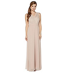 Debut - Gold lace maxi dress