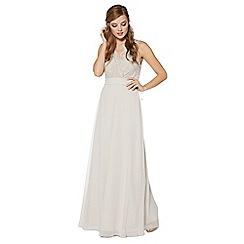 Debut - Silver lace maxi dress