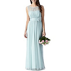 Debut - Light green mesh corsage maxi dress