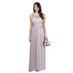 Debut - Light purple mesh corsage maxi dress