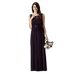 Debut - Purple mesh corsage maxi evening dress