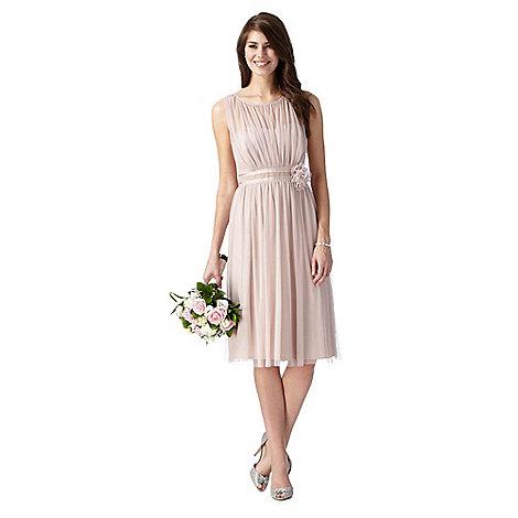 Debut - Rose pink corsage detail dress