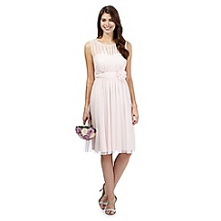 Debut - Pale pink mesh corsage midi dress
