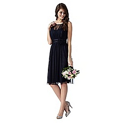 Debut - Dark blue mesh corsage dress