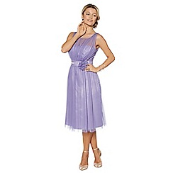 Debut - Lilac mesh build corsage midi dress