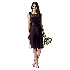 Debut - Dark purple corsage detail dress