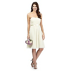 Debut - Pale yellow ruched dress