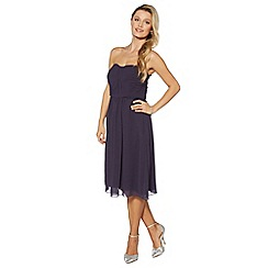 Debut - Navy ruched bodice midi dress