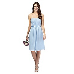 Debut - Pale blue ruched dress