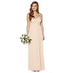 Debut - Peach embellished strap maxi dress