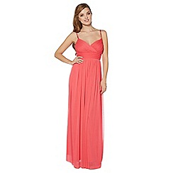 Debut - Pink pleat embellished maxi dress