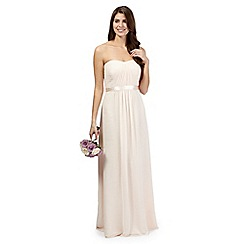 Debut - Pale peach ruched maxi dress