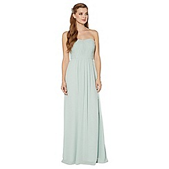 Debut - Light green ruched bodice maxi dress