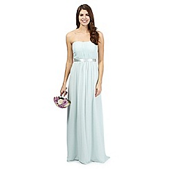 Debut - Sophia Light green ruched evening dress