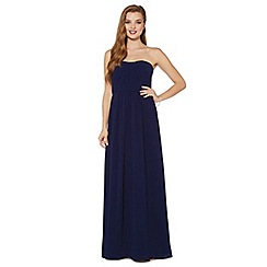 Debut - Navy ruched bodice maxi dress
