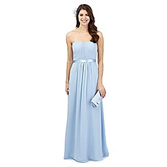 Debut - Pale blue ruched maxi dress