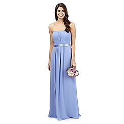 Debut - Mid blue ruched maxi dress