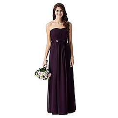 Debut - Dark purple ruched maxi dress