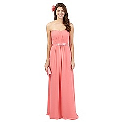 Debut - Bright pink ruched maxi dress