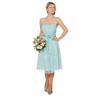 Debut Aqua lace prom dress - . -