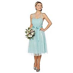 Debut - Aqua lace prom dress