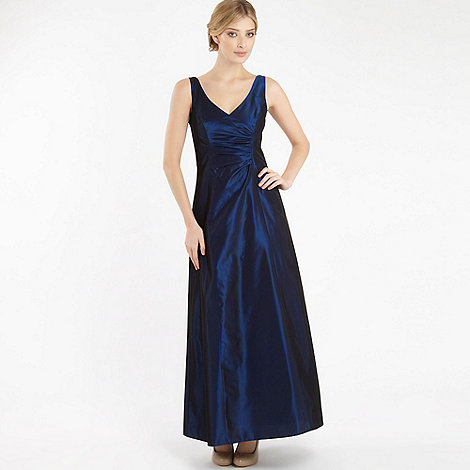 Debut - Midnight blue ruched ball gown