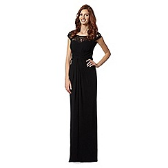 Debut - Black lace yoke maxi evening dress