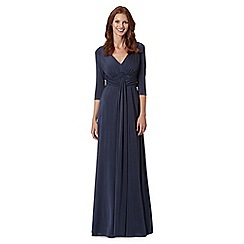 Debut - Navy wrap waist jersey maxi dress