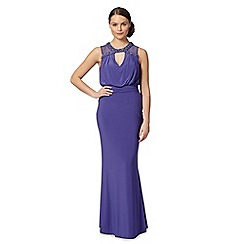 Debut - Purple beaded halter maxi dress