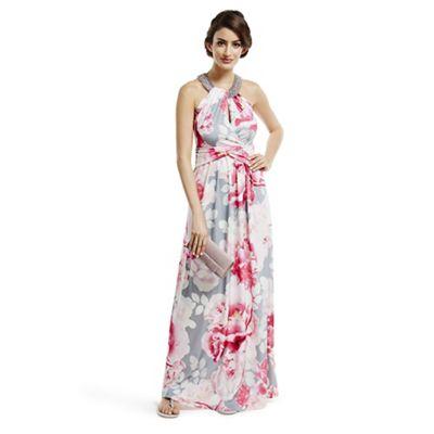 Debut pink maxi dress