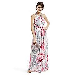 Debut - Pink printed jersey maxi dress