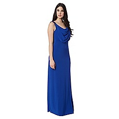 Debut - Bright blue embellished maxi evening dress